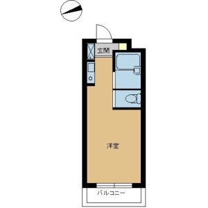 1R Mansion in Kizawa - Toda-shi Floorplan