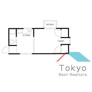 1DK Mansion in Okubo - Shinjuku-ku Floorplan