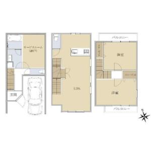 3LDK {building type} in Kamiikedai - Ota-ku Floorplan