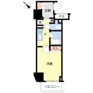 1K Mansion in Higashishinkoiwa - Katsushika-ku Floorplan