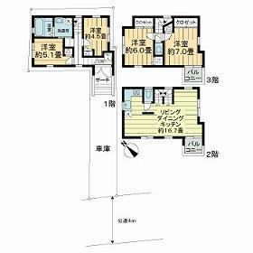 4LDK House in Hommachi - Shibuya-ku Floorplan