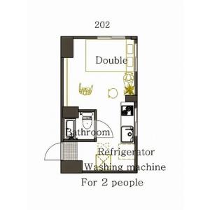 澀谷區道玄坂-1R公寓 房間格局
