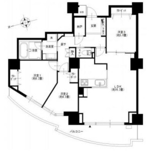 3LDK Apartment in Toyosu - Koto-ku Floorplan