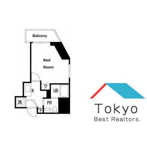 新宿區本塩町-1K公寓大廈 房間格局