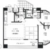 2LDK Apartment to Buy in Hiroshima-shi Naka-ku Floorplan
