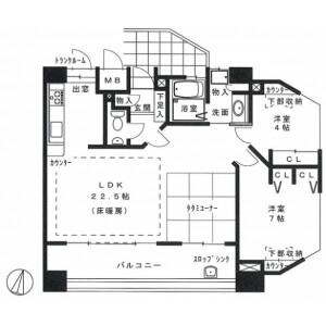 2LDK {building type} in Otemachi - Hiroshima-shi Naka-ku Floorplan