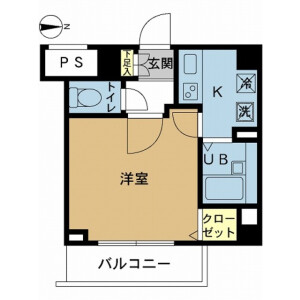 1K Mansion in Kitasuna - Koto-ku Floorplan