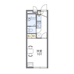 1K Apartment in Kawaraguchi - Ebina-shi Floorplan