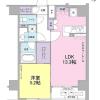 在品川区内租赁1LDK 公寓大厦 的 楼层布局