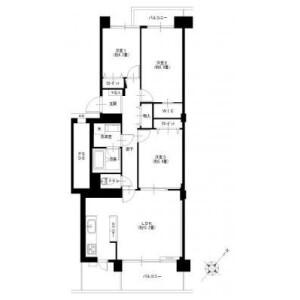 3LDK Apartment in Mamedocho - Yokohama-shi Kohoku-ku Floorplan