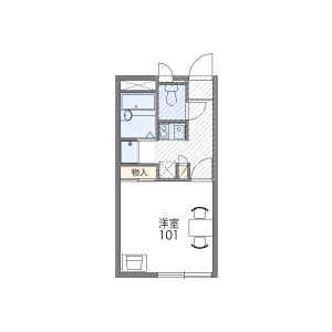 1K Apartment in Kasugacho - Nerima-ku Floorplan