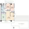 在尼崎市购买3LDK 公寓大厦的 楼层布局