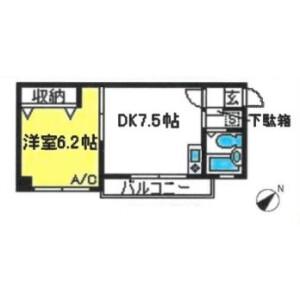 1DK Mansion in Takahanacho - Saitama-shi Omiya-ku Floorplan