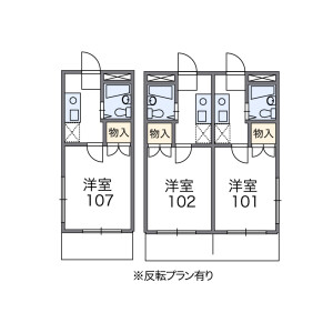 1K Apartment in Haramachi - Shinjuku-ku Floorplan