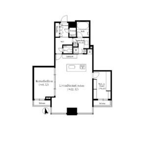 1LDK Apartment in Tomihisacho - Shinjuku-ku Floorplan