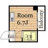 1R Apartment to Rent in Osaka-shi Ikuno-ku Floorplan