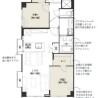 在新宿區購買2LDK 公寓大廈的房產 房間格局