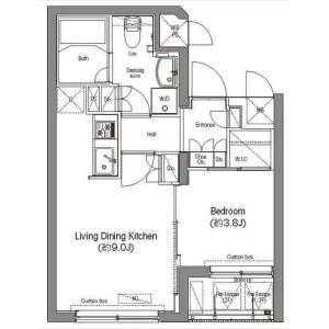 1LDK Mansion in Azabudai - Minato-ku Floorplan