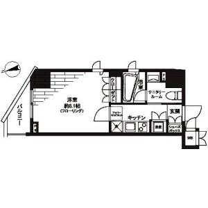 1K Mansion in Motoasakusa - Taito-ku Floorplan