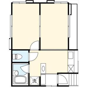 2DK Mansion in Kitazawa - Setagaya-ku Floorplan