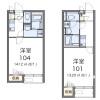 1K Apartment to Rent in Konosu-shi Floorplan
