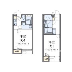 1K Apartment in Fukiagefujimi - Konosu-shi Floorplan