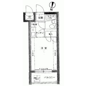 1K {building type} in Kikuna - Yokohama-shi Kohoku-ku Floorplan