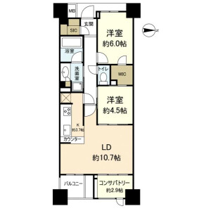 2LDK {building type} in Semba nishi - Mino-shi Floorplan