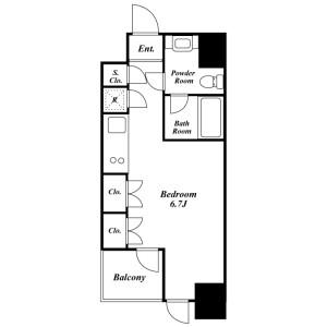 1R Mansion in Shiba(4.5-chome) - Minato-ku Floorplan