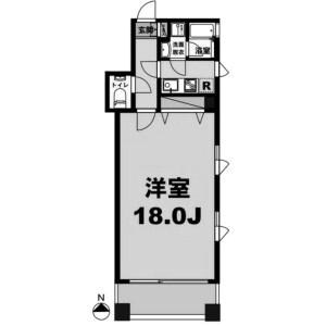 1K Mansion in Hatchobori - Chuo-ku Floorplan