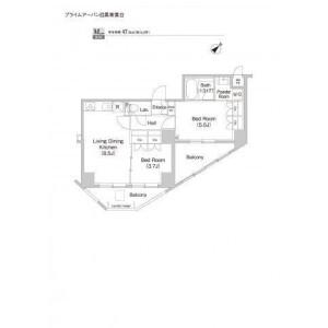 目黒区青葉台-2LDK公寓大厦 楼层布局