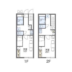 名古屋市千種區神田町-1K公寓 房間格局