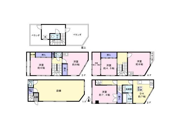 Whole Building House to Buy in Osaka-shi Naniwa-ku Floorplan