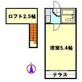 足立区 竹の塚 1K アパート 間取り