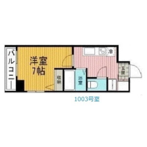 1K Mansion in Nihonzutsumi - Taito-ku Floorplan