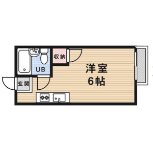 1K Mansion in Segawa - Mino-shi Floorplan