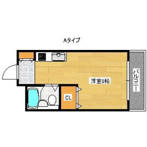 1R Mansion in Sanno - Osaka-shi Nishinari-ku Floorplan