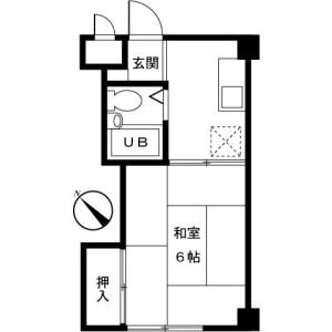 町田市三輪町-1K公寓大廈 房間格局