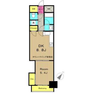 涩谷区千駄ヶ谷-1DK公寓大厦 楼层布局