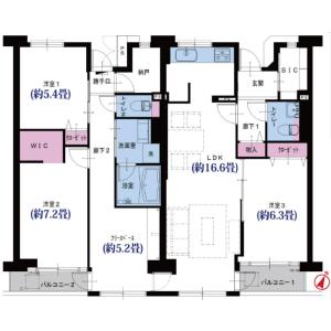 3LDK {building type} in Shiohama - Ichikawa-shi Floorplan