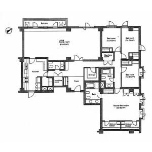4LDK Apartment in Motoazabu - Minato-ku Floorplan