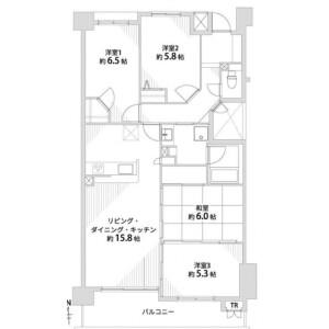 4LDK {building type} in Ishida morihigashicho - Kyoto-shi Fushimi-ku Floorplan