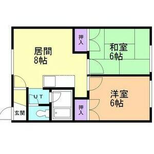 2DK Apartment in Sakuramachi - Eniwa-shi Floorplan