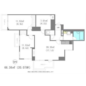 港区西麻布-3LDK公寓大厦 楼层布局