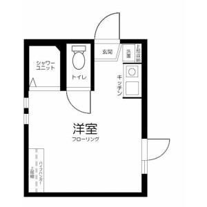1R Apartment in Takadanobaba - Shinjuku-ku Floorplan