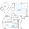 3SLDK Apartment to Buy in Shibuya-ku Floorplan