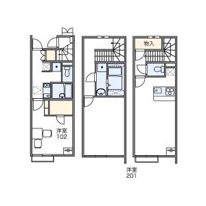 1LDK Apartment in Iriya - Adachi-ku Floorplan