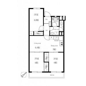 3LDK Apartment in Onaricho - Saitama-shi Omiya-ku Floorplan
