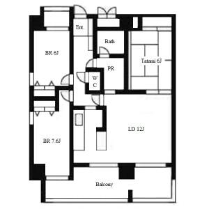 3LDK Apartment in Aioicho - Nagoya-shi Higashi-ku Floorplan