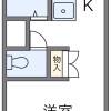 1K Apartment to Rent in Yamatokoriyama-shi Floorplan